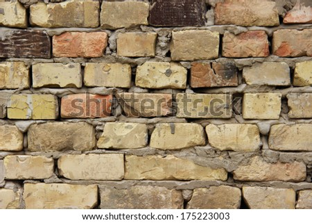 Brick Wall Backgrounds/Texture Of Old Brick Wall - stock photo