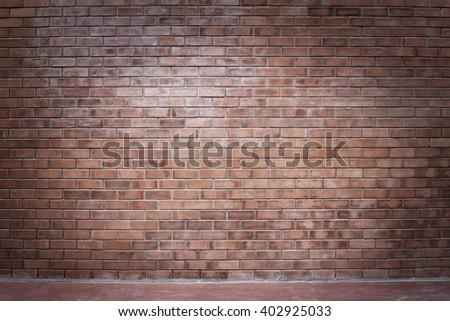 Brick wall Loft style background. - stock photo