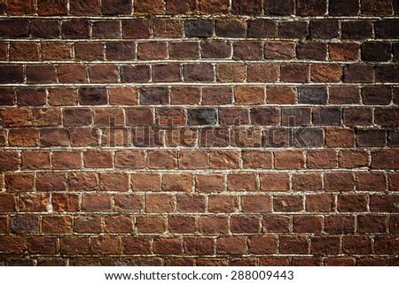 Brick wall texture - stock photo