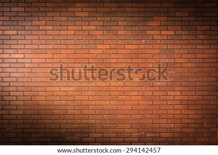 brick wall texture background material of industry construction, image used retro filter - stock photo