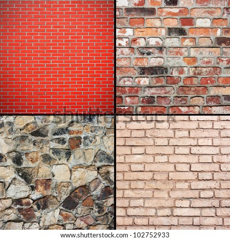 brick wall texture, backgrounds collection - stock photo