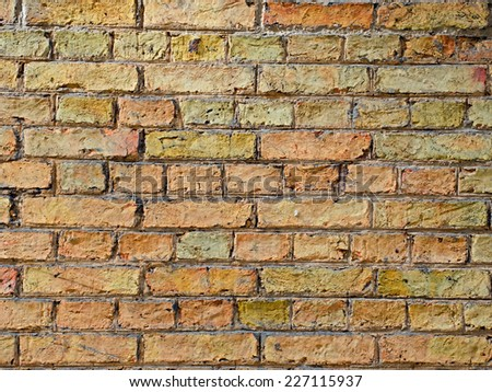 Brick wall texture grunge background - stock photo