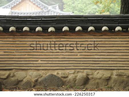 brick wall texture, Korean style - stock photo