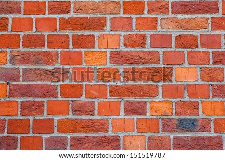 Brick wall texture of the old house - stock photo