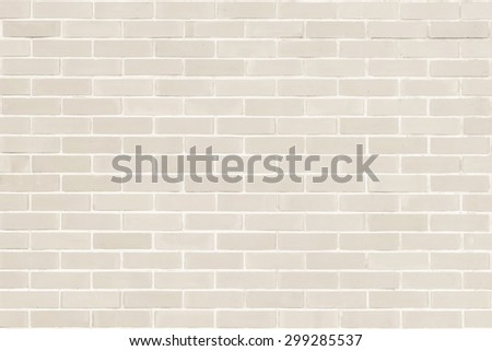 Brick wall texture pattern background in natural light ancient sepia  beige brown color tone: Masonry brick work wall detail textured backdrop   - stock photo