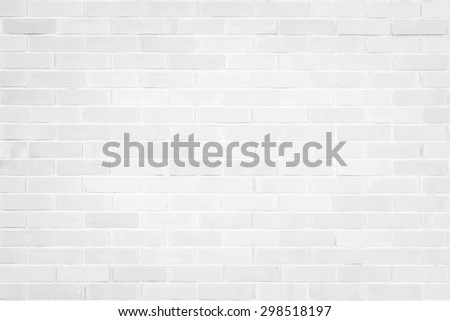 Brick wall texture pattern background in natural light white color tone: Masonry brick work wall detail textured backdrop    - stock photo