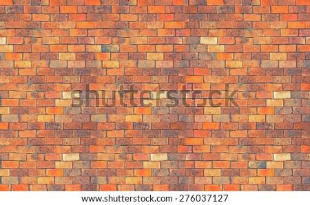 Brick wall  texture, vintage background - stock photo
