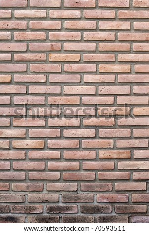brick wall to put graffiti - stock photo