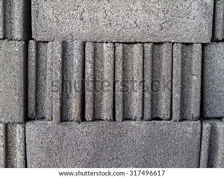 Bricks block for buildings backgrounds  - stock photo