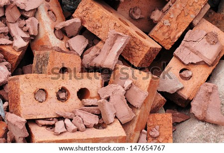 bricks for recycling - stock photo