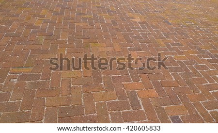 Bricks road surface  - stock photo