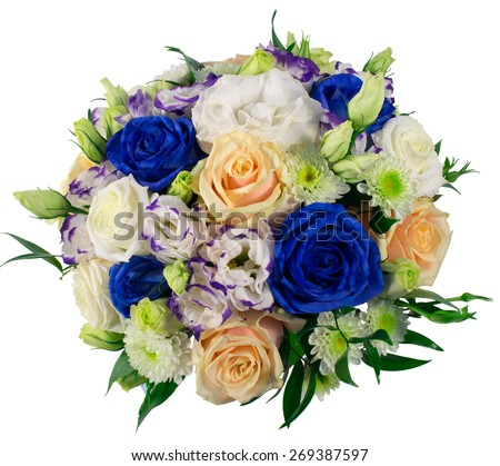 Bridal bouquet of roses - stock photo