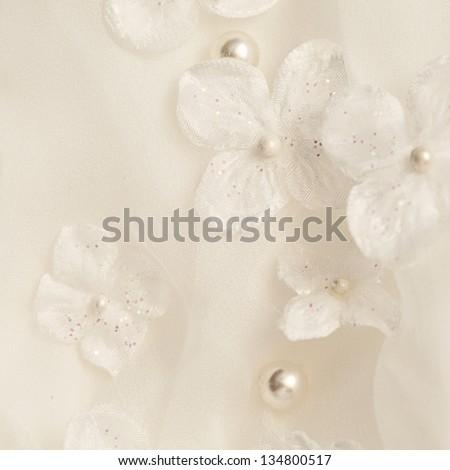 bridal dress detail - stock photo