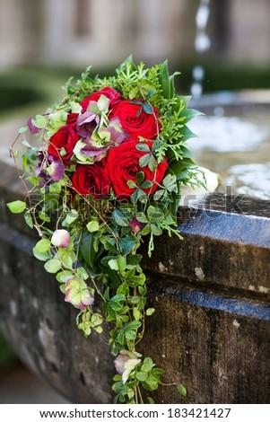 Bridal flowers - stock photo