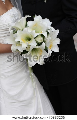 Bridal flowers (lilies) - stock photo
