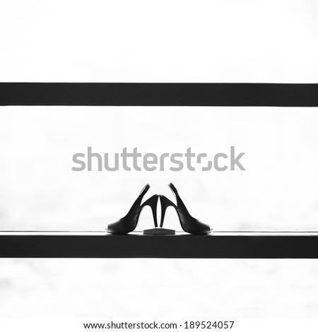 Bridal Shoes , silhouette - stock photo
