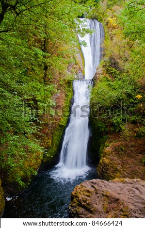 Bridal Veil Falls in the Columbia River Gorge near Portland, Oregon - stock photo