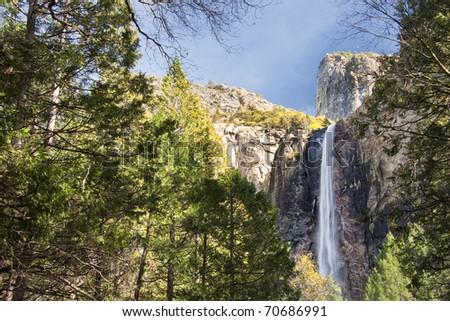 Bridal Veil Falls in Winter - stock photo