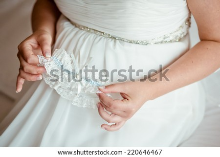 bride pregnant woman - stock photo