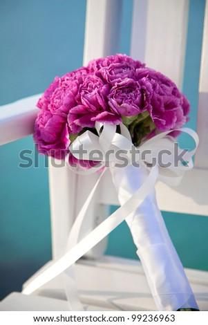 bride's flowers - stock photo