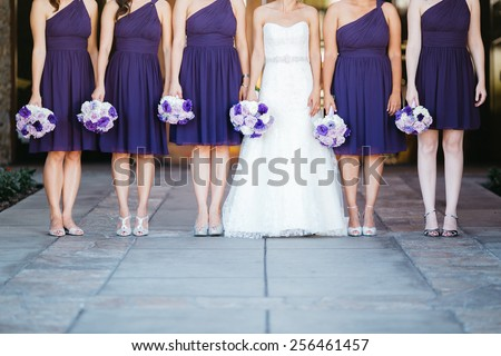 Bridesmaids - stock photo