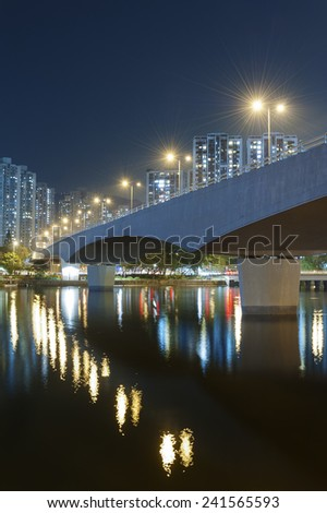 Bridge at night - stock photo