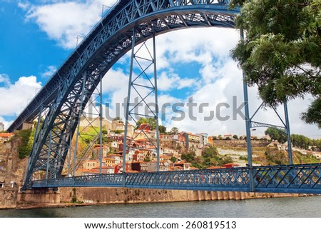bridge Dom Louis, Porto, Portugal - stock photo
