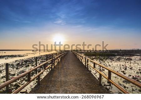 Bridge,future concept - stock photo