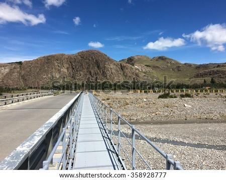 Bridge in El Chalten, Argentina - stock photo