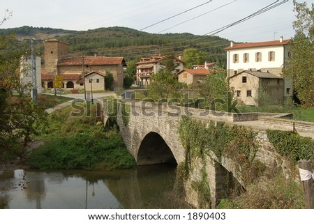 bridge in spain - stock photo
