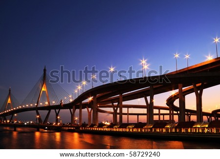 bridge in Thailand - stock photo