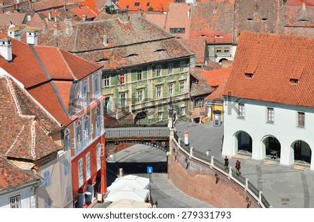 bridge of lies sibiu city romania famous landmark - stock photo