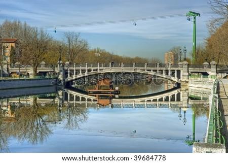 Bridge of Queen Victoria, Madrid II - stock photo