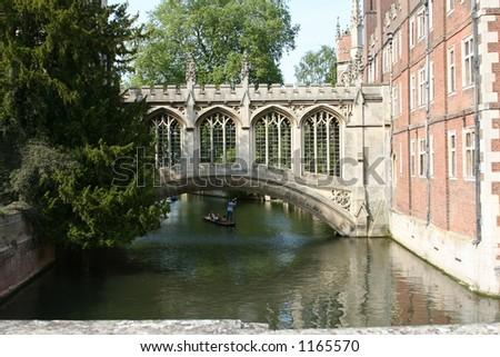 Bridge of Sigh, St. John's College, Cambridge University - stock photo
