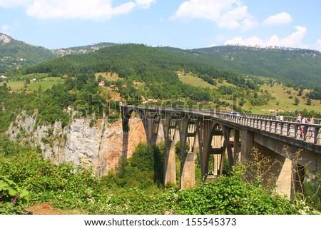 Bridge over Tara - stock photo
