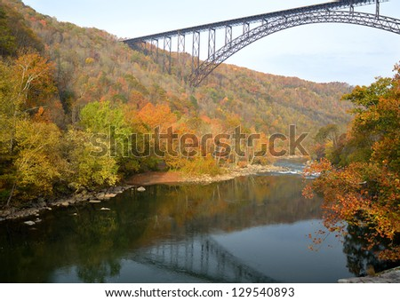 Bridge over the river - stock photo