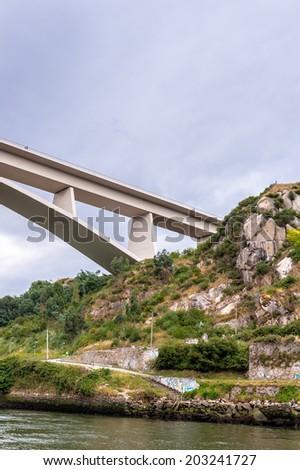 Bridge over the river Douro in Porto, Portugal - stock photo