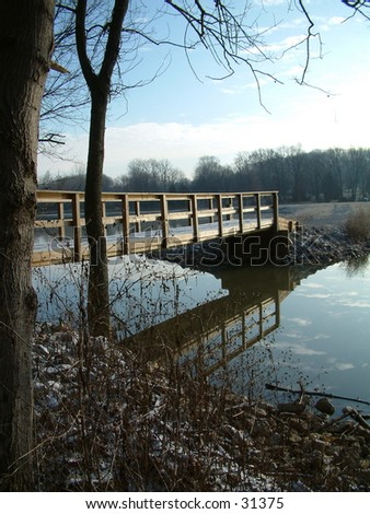 Bridge Reflection - stock photo