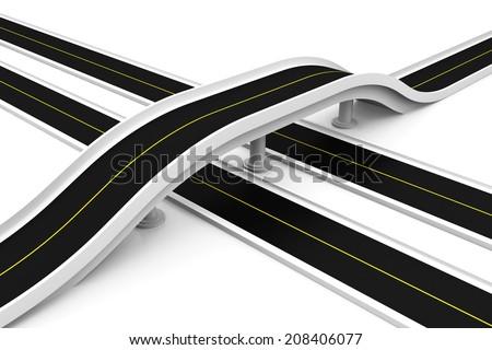 Bridge road - stock photo
