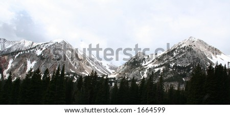 Bridger mountain range in Bozeman, Montana - stock photo