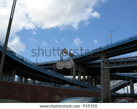 bridges, highways - stock photo