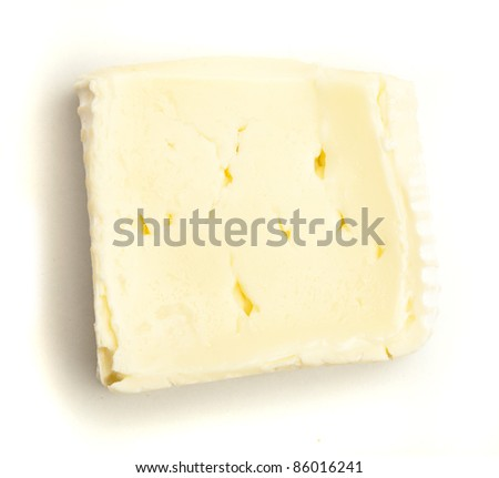 brie cheese isolated on a white background - stock photo
