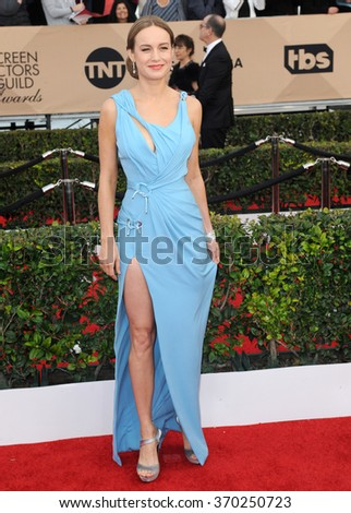 Brie Larson at the 22nd Annual Screen Actors Guild Awards held at the Shrine Auditorium in Los Angeles, USA on January 30, 2016. - stock photo