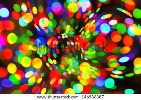 Bright abstract circular bokeh background  - stock photo