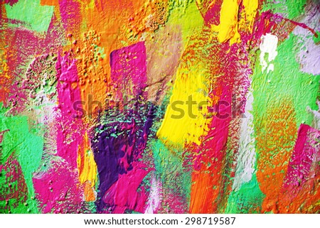 bright abstract painting background - stock photo