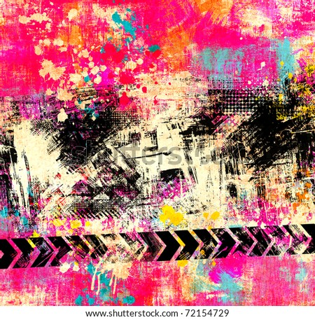 Bright abstract poster - stock photo