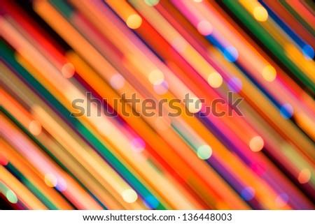 Bright background of dynamic lights.  Firework - stock photo