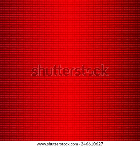 Bright background with red squares and light - stock photo