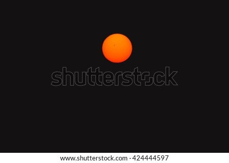 Bright big sun on the sky  - stock photo