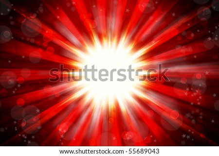 Bright blast abstract red tone background - stock photo